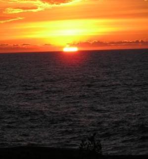 Solnedgång i Bottenhavet