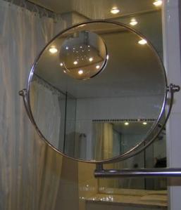 SpegelNo2 fäst på annan spegel för att få kraftig förstoring