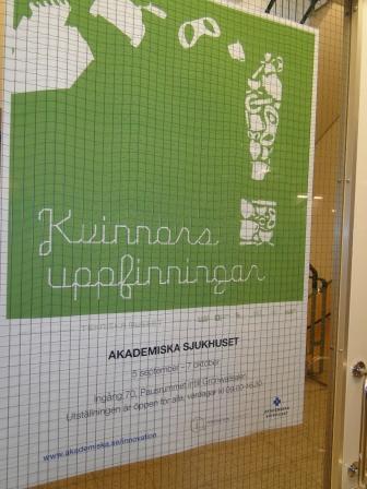 Kvinnors uppfinningar visas på Akademiska sjukhuset 5/9 - 7/10 2011