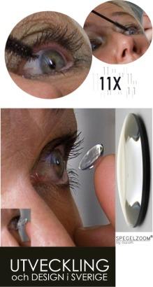 Spegelzoom är bra vid insättning av linser!