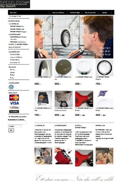 spegelzoom webshop startsida form 11-01